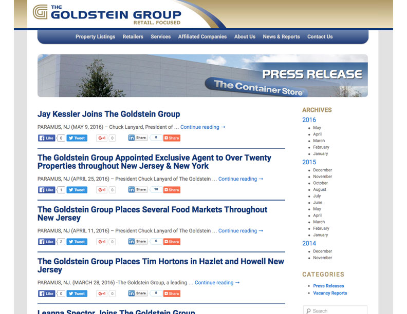 The Goldstein Group Website Creative Mind Consulting Group